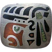Vintage Mexican 925 Sterling Silver Pin