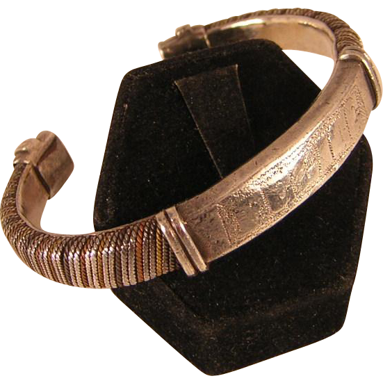 Vintage Hand Crafted Bracelet in Mixed Metals