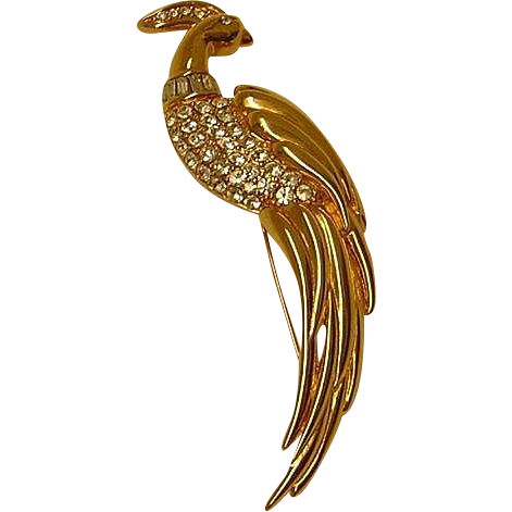 Vintage Monet Bird of Paradise Brooch
