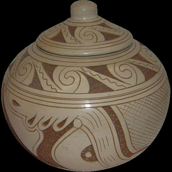 Native American Lidded Pot