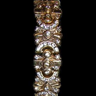 Vintage 9k Gold Art Deco Style Bracelet