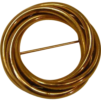 Vintage Gold Filled Circle Pin