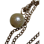 Vintage Cultured Pearl on Chain