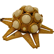 Vintage Domed Starfish Brooch