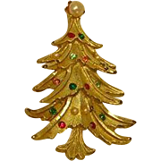 Vintage Christmas Tree Pin