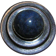 Modernist Ring with Blue Stone size 4.5