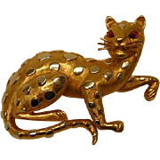 Vintage Crown Trifari Leopard Pin
