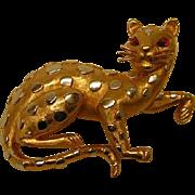 Vintage Crown Trifari Leopard Pin