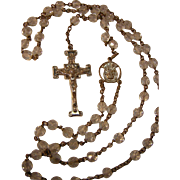 Vintage Rosary with Clear Beads