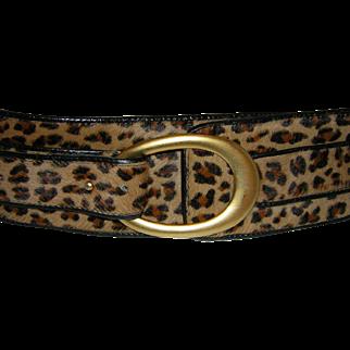 Vintage Leopard Print Belt