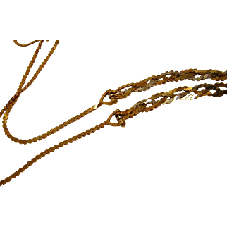 Vintage 14k Multi-color or Tri-Color Gold Chain from Italy