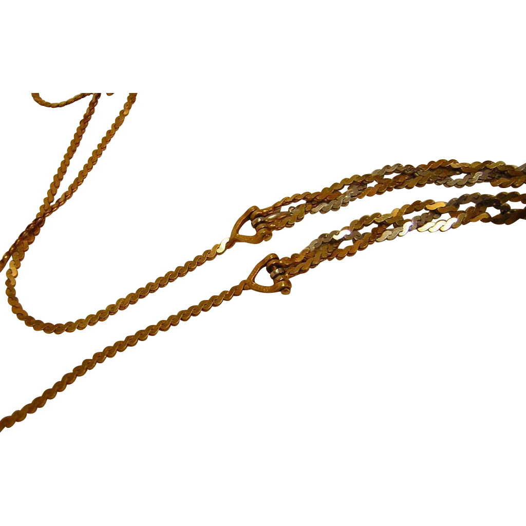 Vintage 14k Braided Gold Chain from Italy