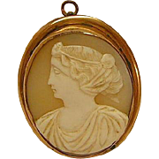 Antique Shell Cameo Brooch / Pendant