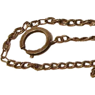 Vintage Sterling Silver Watch Chain