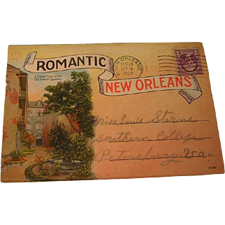 Vintage Valentine from 1933 Romantic New Orleans Post Card Folio
