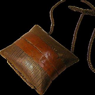 Vintage Brass Purse on Chain