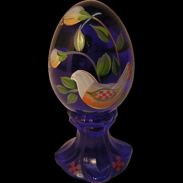 Cobalt Blue Fenton Egg Limited Edition