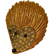 Vintage Hedgehog Figural Pin