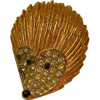 Vintage Hedgehog Figural Pin