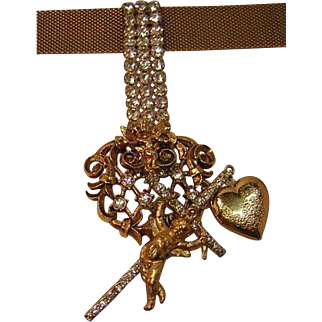 'Born Again Bling II' Collage Necklace by Josty