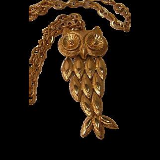 Vintage Avon Owl Necklace