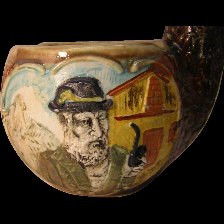Vintage E. Remy Martin Ceramic Pipe Decanter