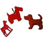 Vintage Red Dog Collectibles