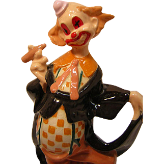 Vintage Ceramic Clown with Cigar