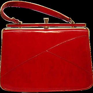 Vintage 1950's Red Naturalizer Handbag