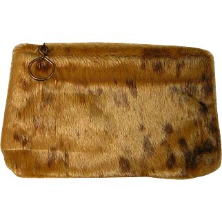 Vintage Teddy Bear Clutch Purse