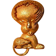 Vintage Lion Figural Pin