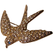Vintage Smithsonian Swallow Pin by Avon