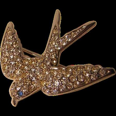 Vintage Smithsonian Swallow Pin by Avon