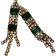 Vintage Long Rhinestone Earrings