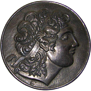 Vintage Silver Repose` of Alexander the Great on Marble Mount
