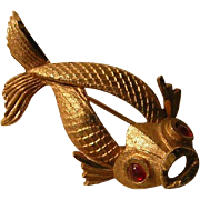 Vintage Figural Koi Pin