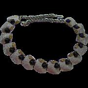 Vintage Faux Sapphire Necklace signed ART