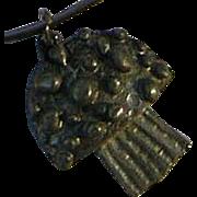Vintage Mushroom Charm Bangle Bracelet