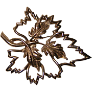 Vintage Emmons Leaf Pin / Brooch