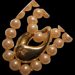 Vintage 14k Gold Necklace Enhancer Slide On Sale until Christmas