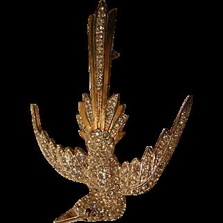 Art Deco Period Soaring Bird Brooch