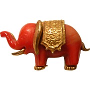 Vintage Plastic Elephant Pin