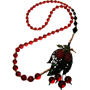 Collage Necklace by Josty 'Luscious Fruit'