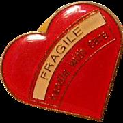 Vintage Heart Lapel Pin