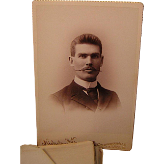Antique Class of 1892 Wabash College Hand Stitched Photo Album