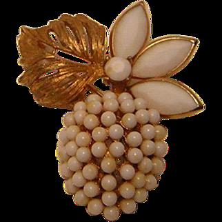 Vintage White Fruit Pin