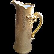 Gorgeous Large Limoges Dragon Handle Gold Tankard