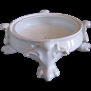 Antique Pure White Limoges Porcelain Plinth for Vase or Jardiniere