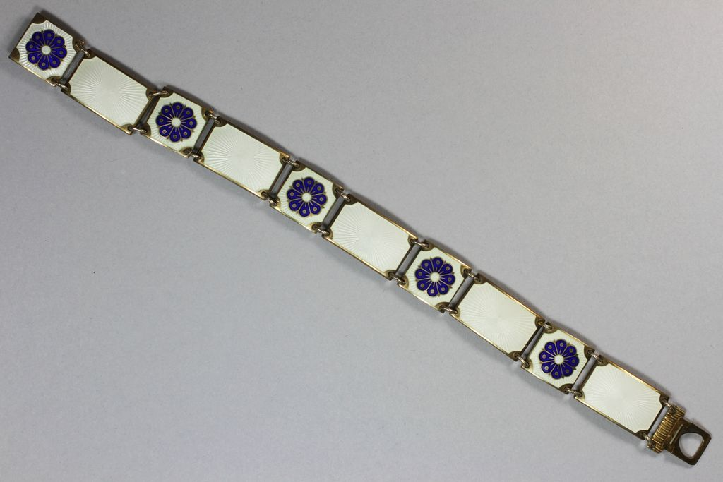David Anderson Sterling Silver Enamel Bracelet