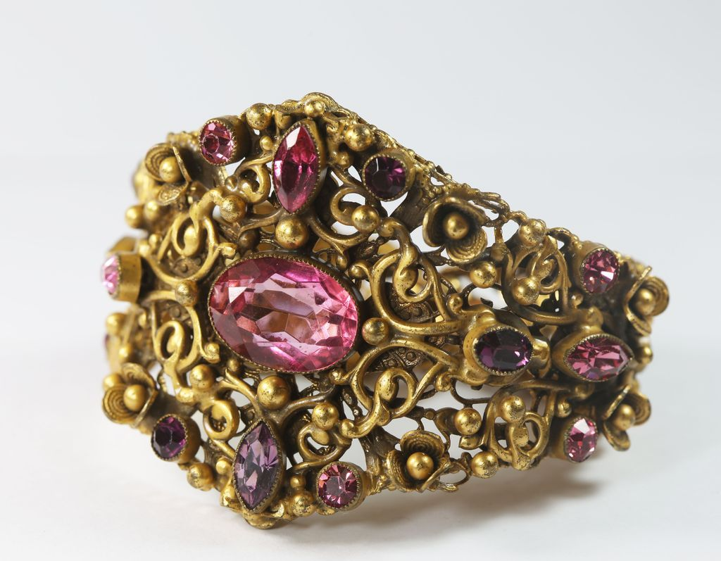 Luscious Pink and Purple Art Nouveau Bracelet